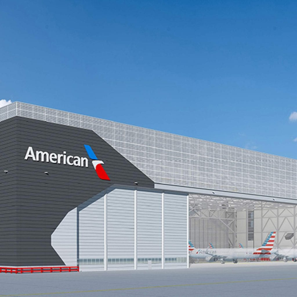 City Of Dallas Careers >> American Airlines O'Hare Hangar 2 - W.E. O'Neil Construction