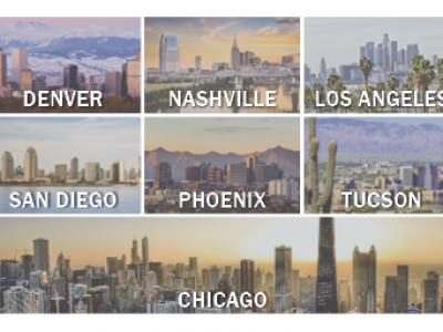 More than the Midwest: Denver, Nashville, Los Angeles, San Diego, Phoenix and Tucson